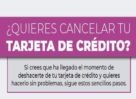 ¿Quieres cancelar tu tarjeta de credito?