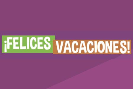 ¡Felices vacaciones!