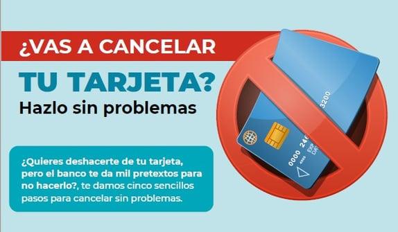 Vas a cancelar tarjeta